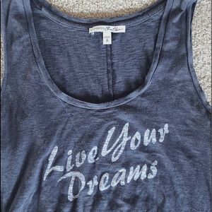 Gray Express live your dreams muscle tank top